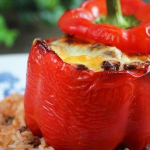 Cheesy Beef Stuffed Pepper Recipe