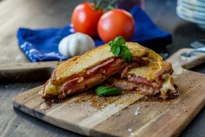 Grilled Ham, Turkey, Tomatoes, & Mozzarella Panini Recipe