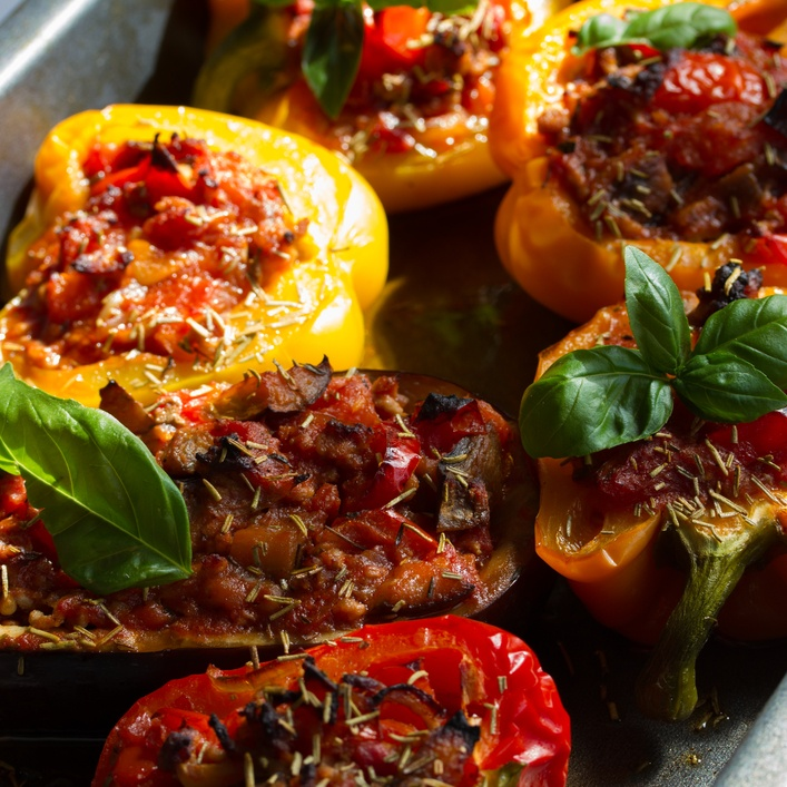 veggie taco stuffed peppers