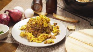 Stovetop Stuffing Scramble Recipe