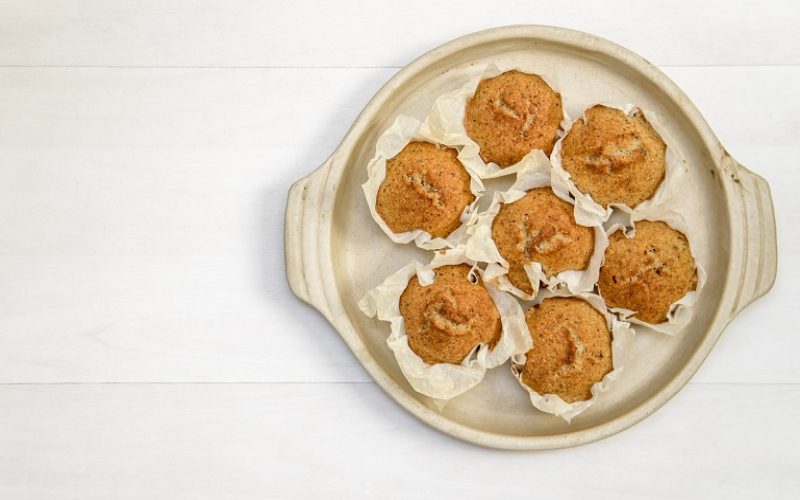 Sweet Potato Muffins with Caramel Sea Salt Butter main
