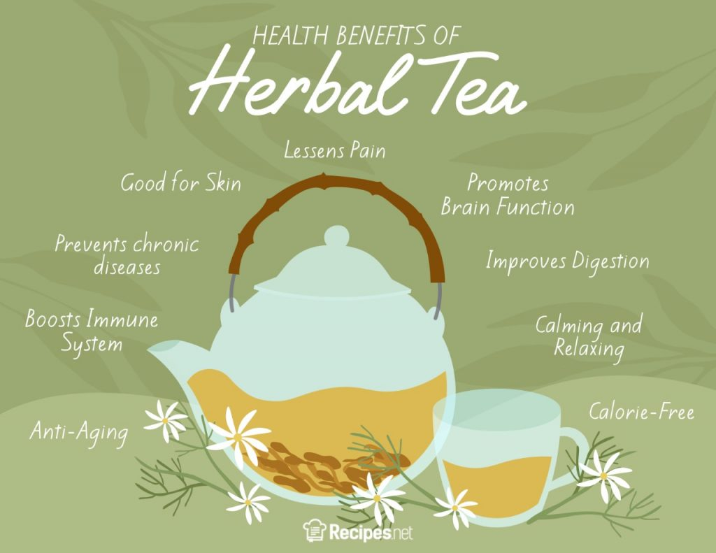 9 health benefits of herbal tea tisane