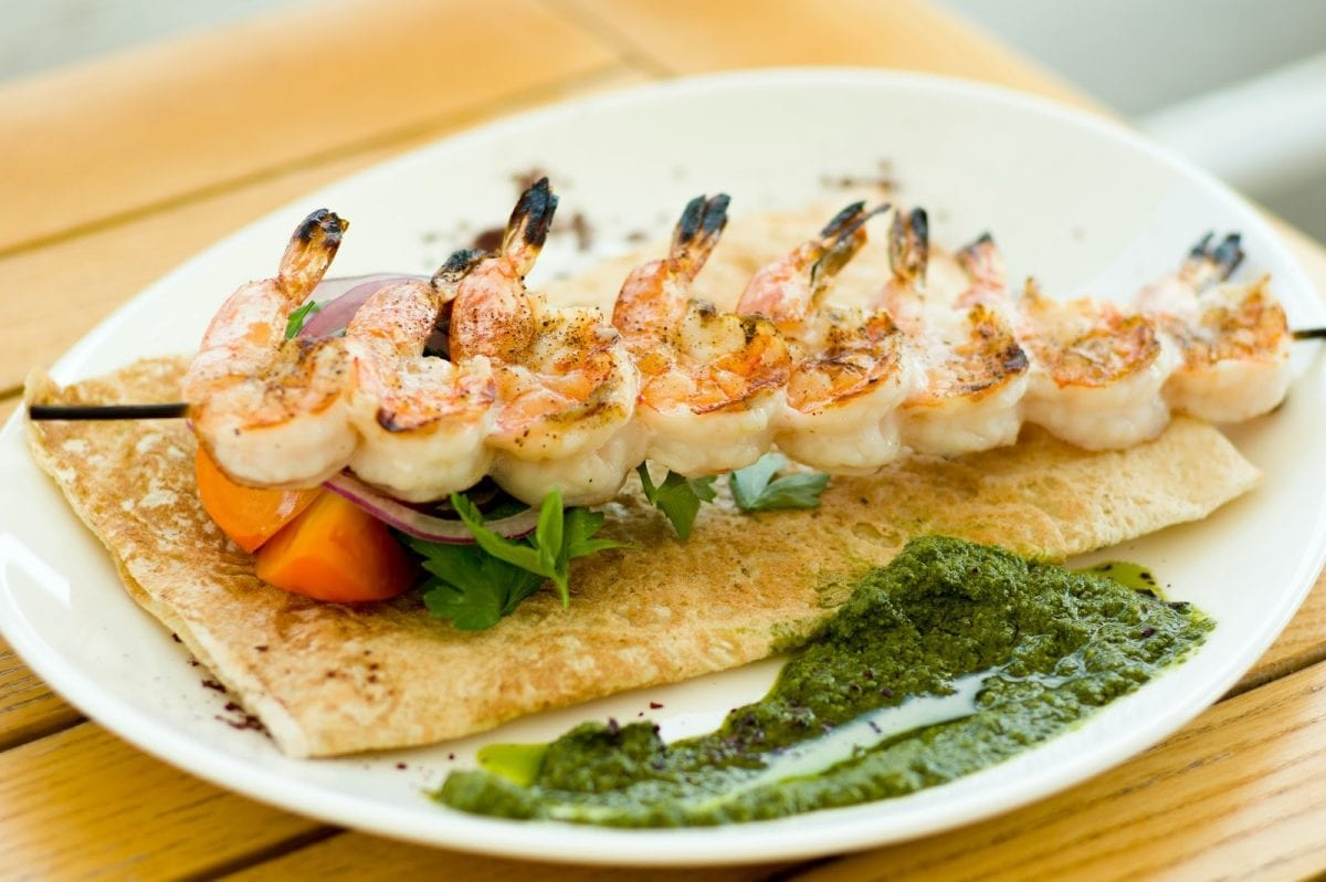 Rum Soaked Caribbean Shrimp Skewers Recipe - Grilled marinated shrimp
