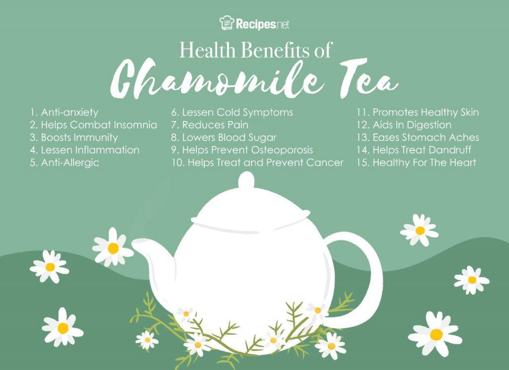 healthy tea drink chamomile tea benefits
