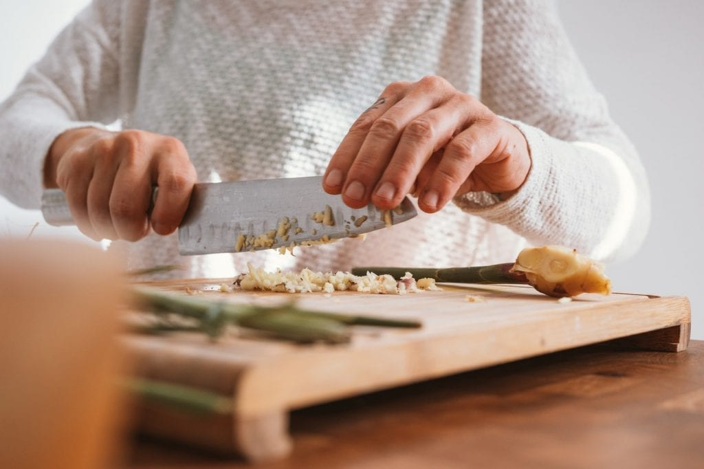 prepared ingredients gift ideas for new parents, chopping ingredients