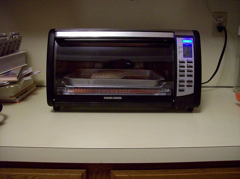 Reheating in oven toaster