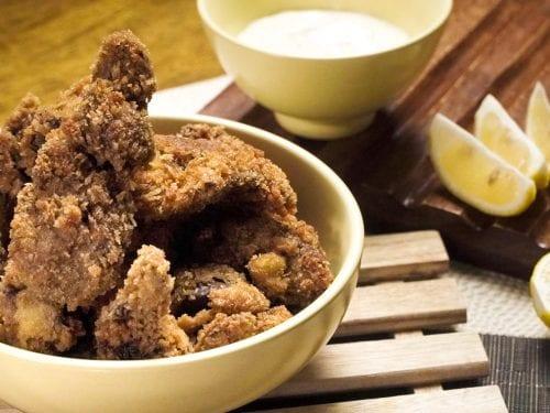 Fried Chicken Livers (Cracker Barrel Copycat) - crispy, crunchy, and tasty fried chicken livers from Cracker Barrel