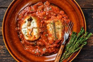 Baked Fish with Tomato Mushroom Sauce Recipe