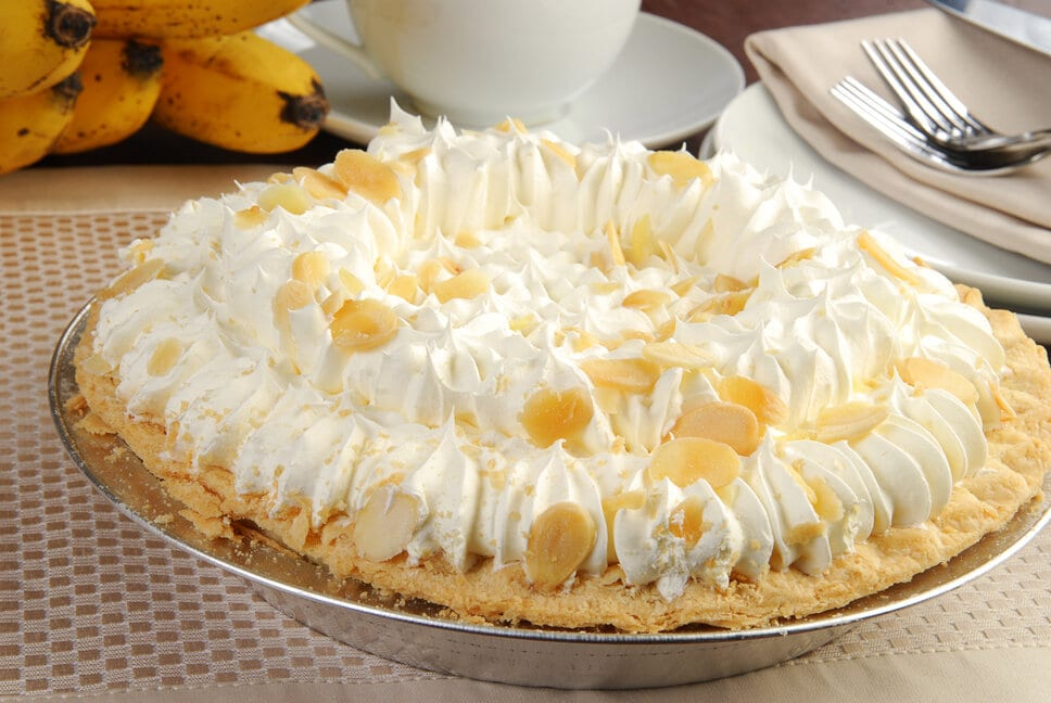 Delicious banana cream pie