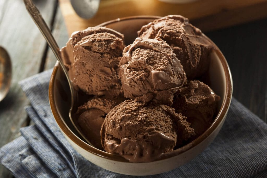 creamy chocolate vegan ice cream