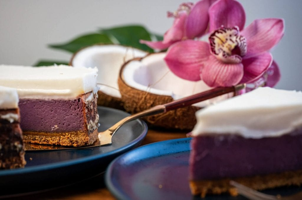 dairy free purple sweet potato pie
