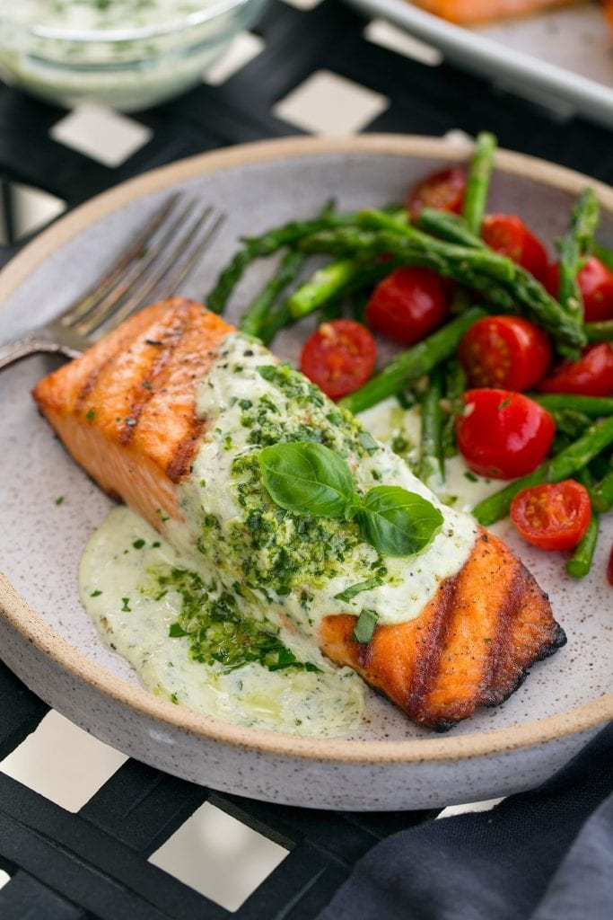 grilled salmon fillets recipe