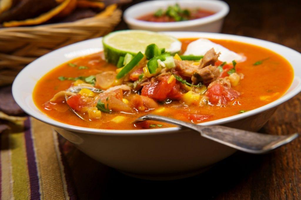 Instant Pot Sweet Potato Tortilla Soup Recipe