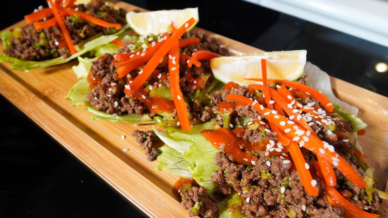 Korean Style Beef Lettuce Wraps