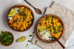 Vegan Sweet Potato Chickpea Curry Recipe