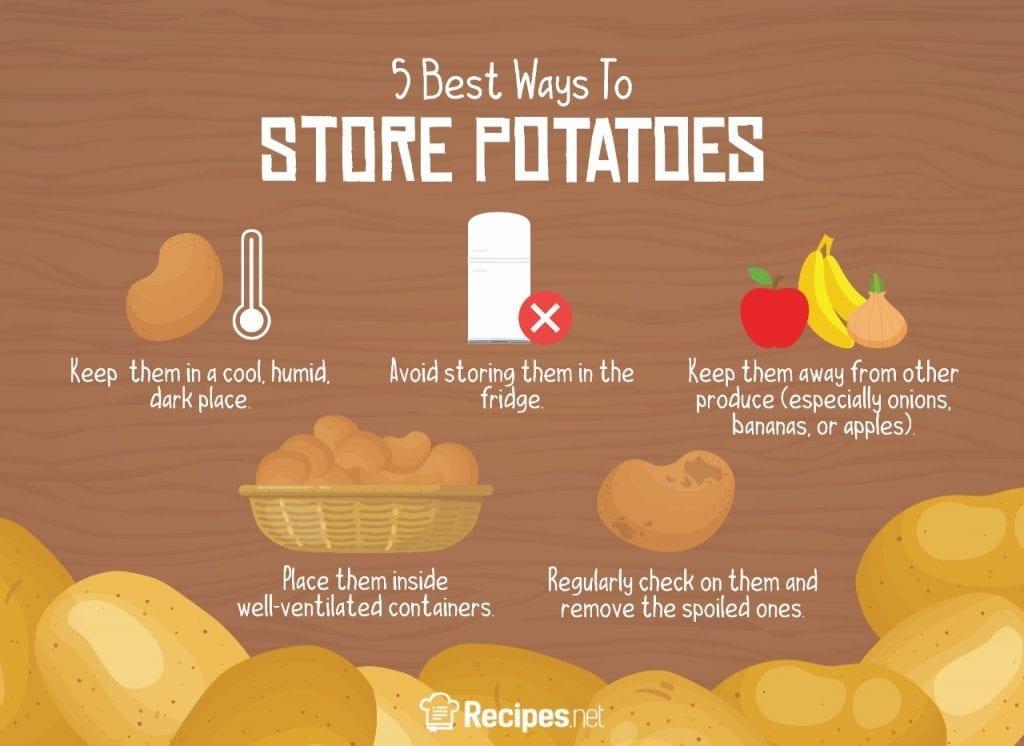 best ways to store fresh potatoes, vegetable storing