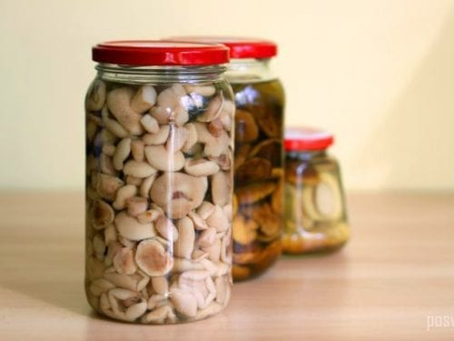 Pickled Mushrooms Recipe - easy marinate for pickled mushrooms with garlic and herbs