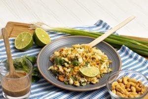plate of peanut quinoa salad