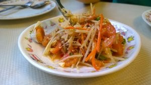 healthy green papaya salad recipe