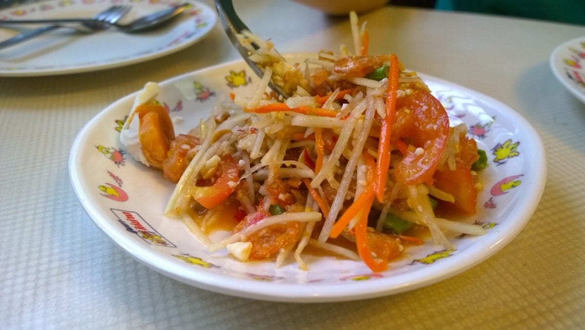 healthy green papaya salad recipe