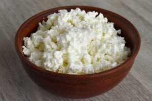 a bowl of ricotta cheese