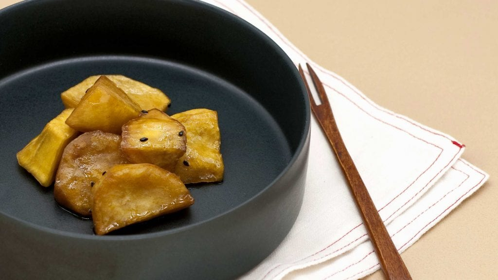 Korean Candied Sweet Potatoes (Goguma Mattang) Recipe