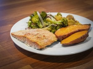 Sheet Pan Parmesan Crusted Salmon with Broccoli Recipe