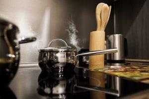 small pot on stove