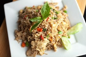 plate of Thai chicken fried rice
