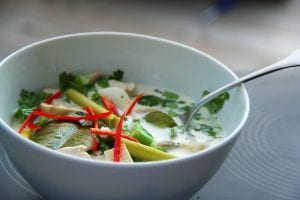 bowl of tom kha gai