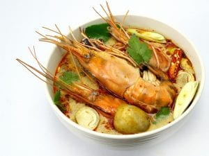 bowl of tom yum soup
