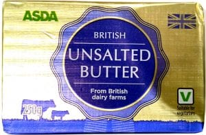 tub of unsalted butter