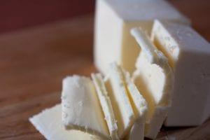 slices of vegan butter