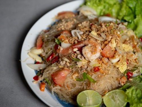 Yum Woon Sen (Glass Noodle Salad) Recipe