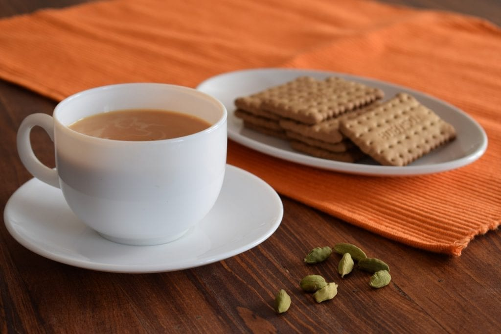 hot cardamom tea