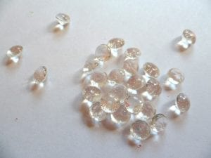 Edible diamonds made of isomalt