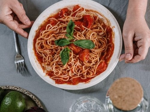 Pasta Pomodoro Recipe, Italian spaghetti pasta with pomodoro sauce