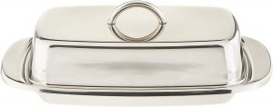 stainless steel double covered butter keeper