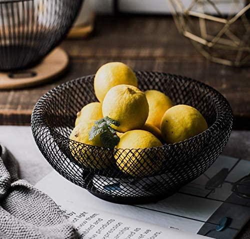 Black wire mesh fruit basket