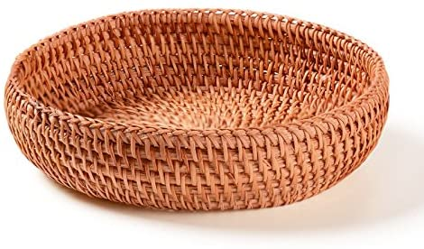 Small wicker woven fruit basket