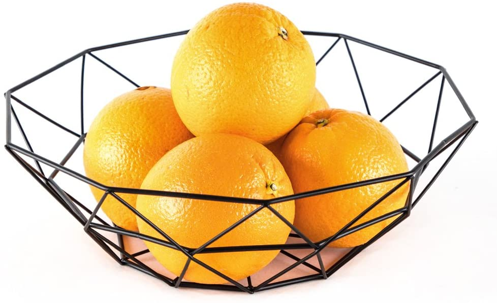 Modern wire basket with fruits