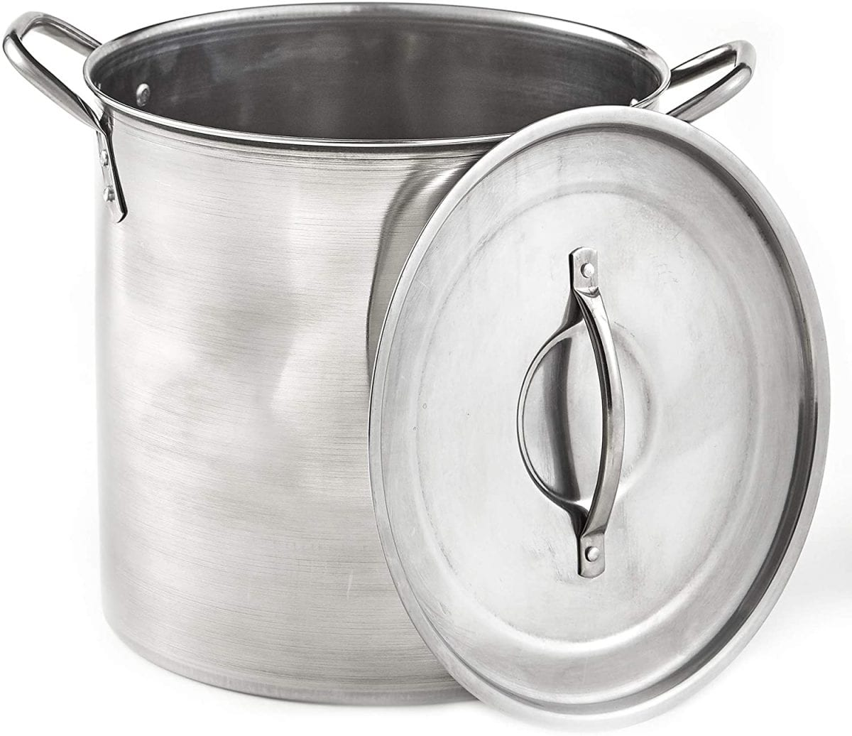 Imusa stainless steel silver stock pot