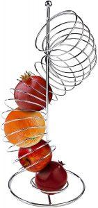 Vertical spiral fruit dispenser