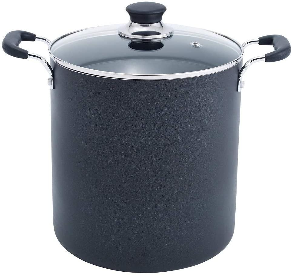 Tfal black nonstick stock pot