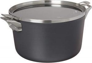 gray anodized stock pot