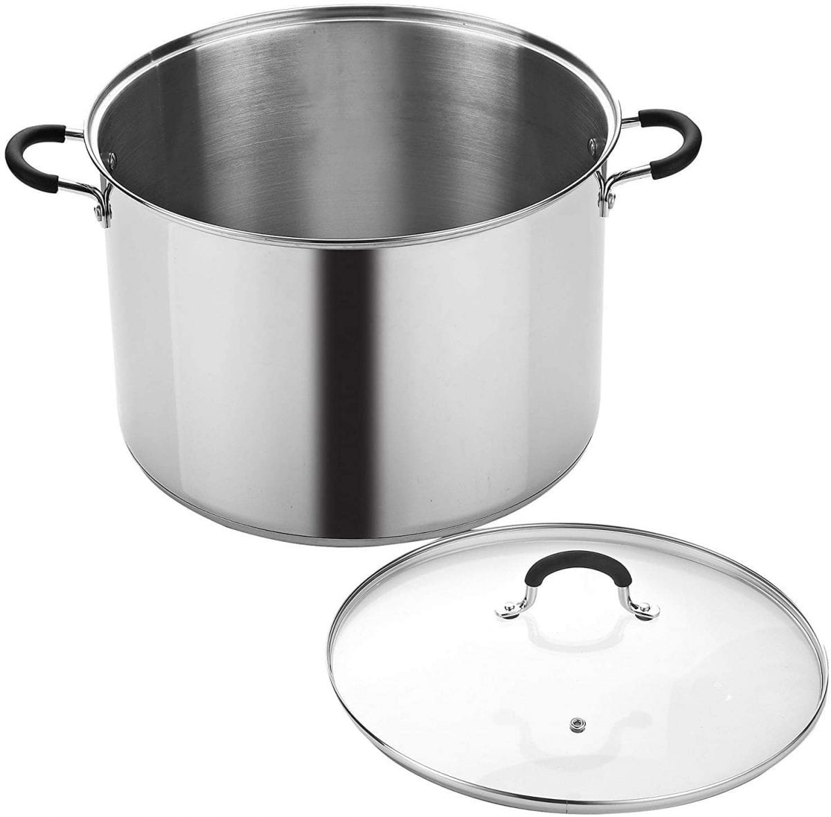 Cook N Home silver stock pot with lid