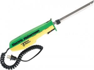 neon green electric knife