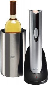 Oster electronic wine bottle opener, with stainless steel chiller