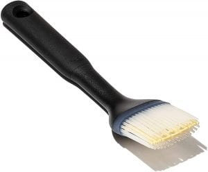 OXO Good Grips Silicone Brush, with black handle and silicone bristles