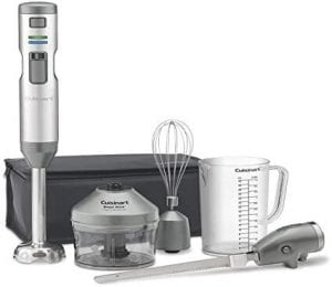 electric knife, a blender, a food chopper, and a whisk